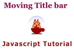 Create Moving Title Text | javascript Tutorial
