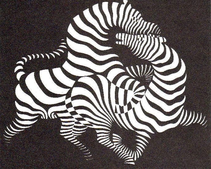 Art now and then victor vasarely - Cuadros de cebras ...