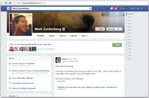 Facebook của Mark Zuckerberg bị hack vì không công nhận lỗi