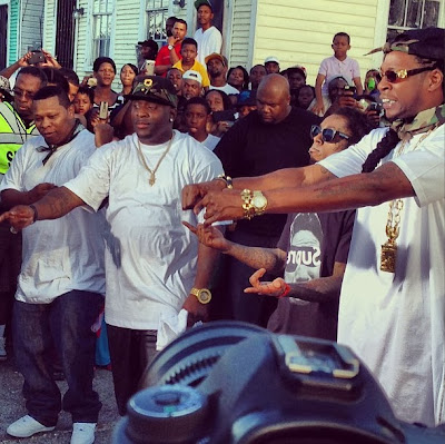 fotos de lil wayne turk juvenile mannie fresh 2 chainz hot boys grabando el video de used 2