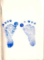 Cap kaki saya saat lahir