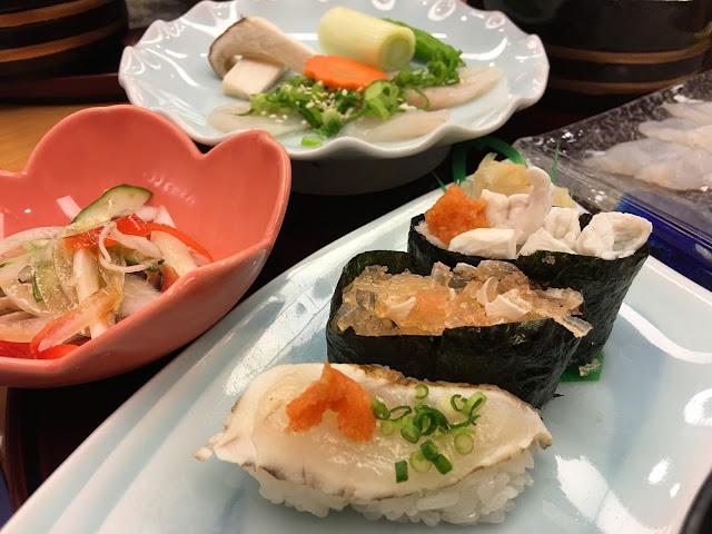 osaka shin sekai tsuboraya pufferfish globefish fugu set meal