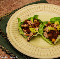 Roasted Salmon Lettuce Wraps w/ Mango Salsa from Sue's Nutrition Buzz