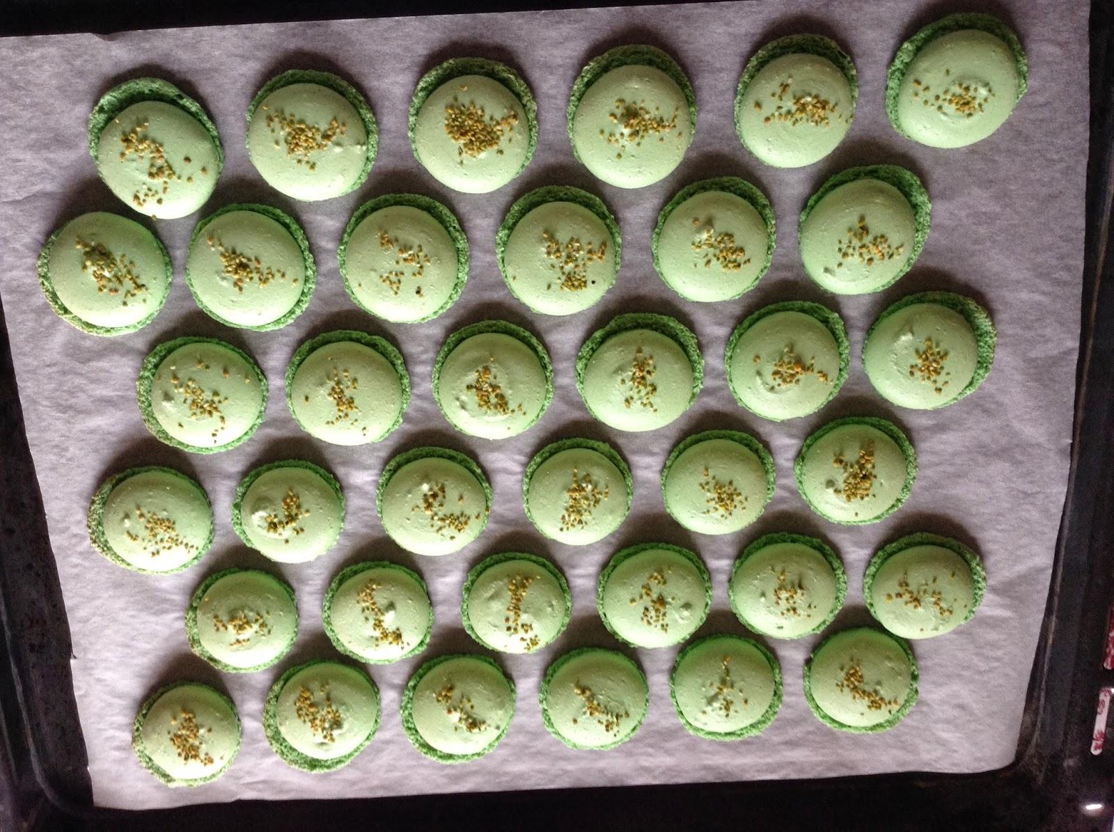 Macarons de pistacho, receta