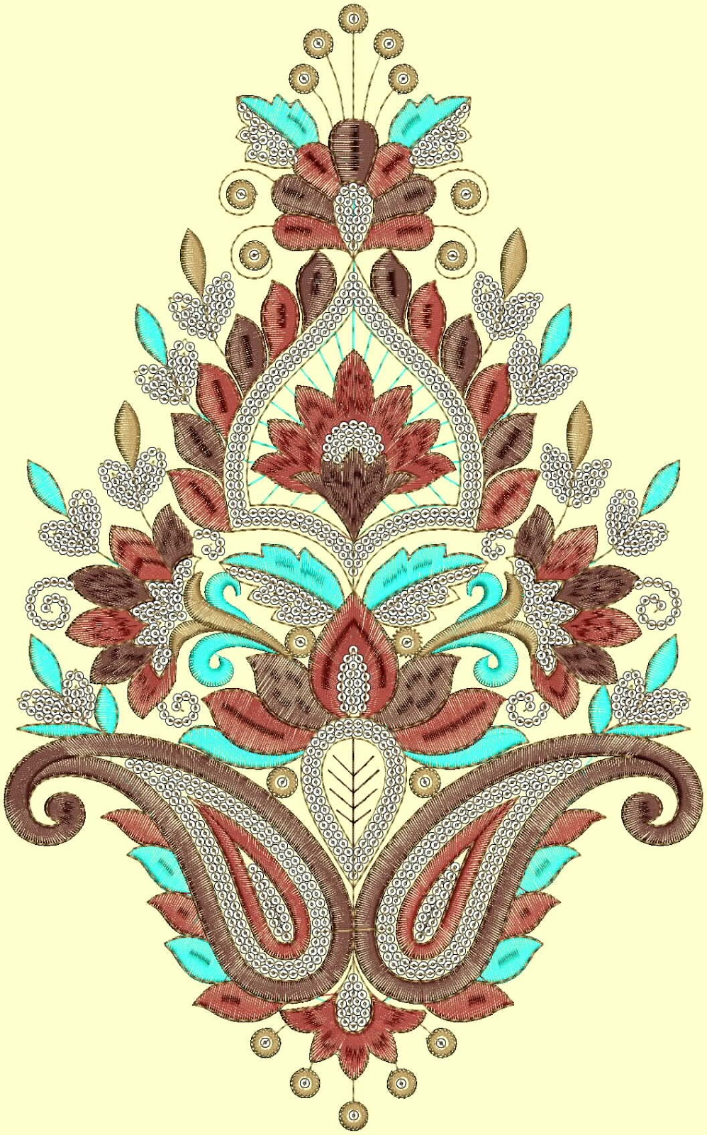 Velvet embroidery designs makaroka