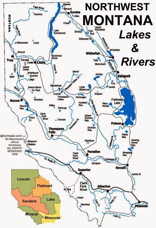 BOATING THE INLAND NORTHWEST: NORTHWEST MONTANA LAKES & RIVERS