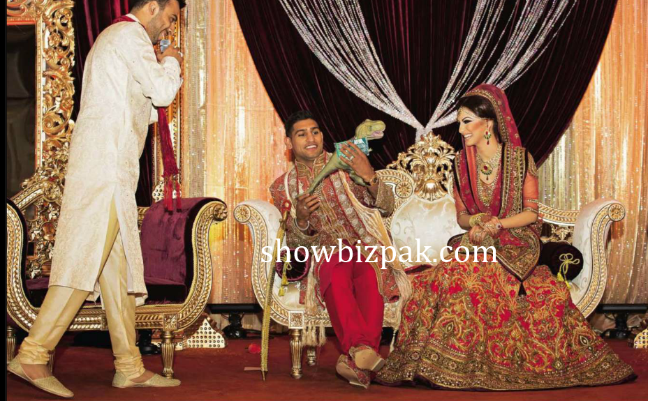 celebrity weddings boxer amir khan wedding pics