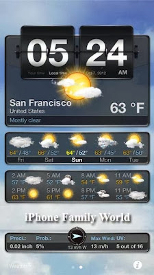 Weather+ 2.47 (v2.47) - iphone family world | iphone family