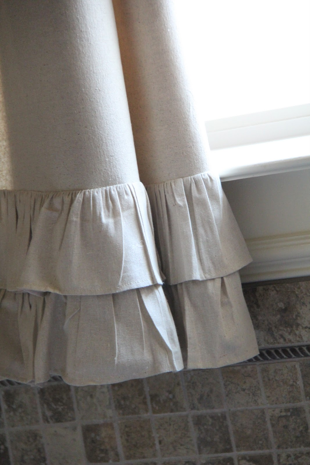 Diy Ruffle Drop Cloth Curtains Shanty 2 Chic