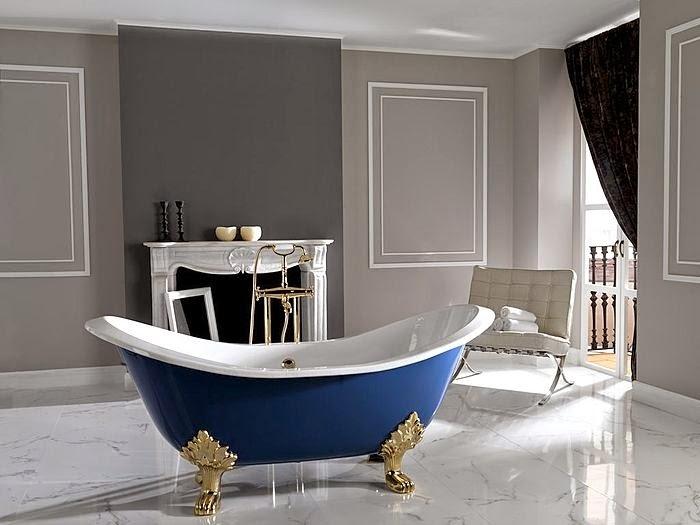 Bañeras en casa - Bañera clásica azul
