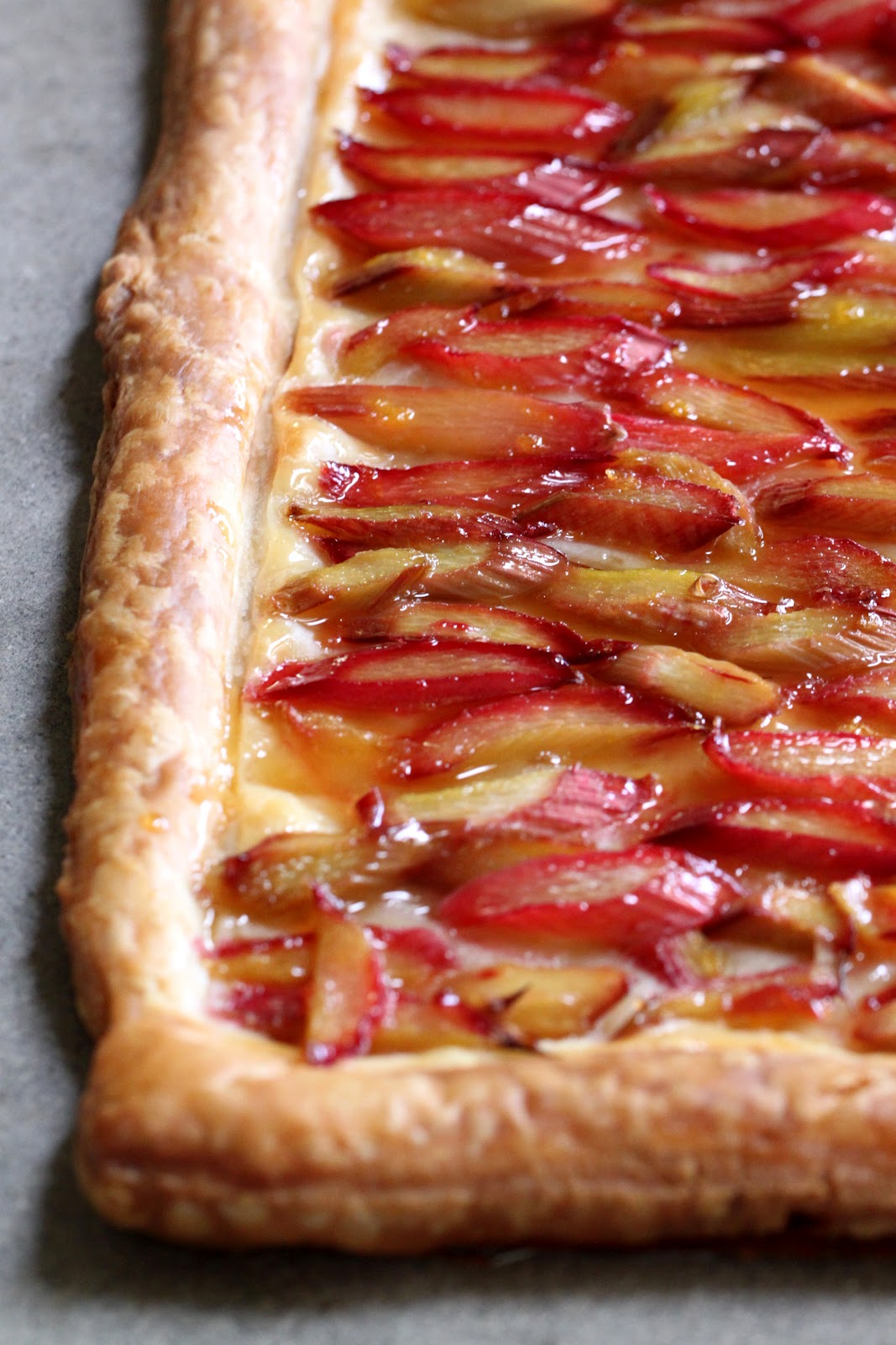 Badger Kitchen: Rhubarb Tart with Orange Glaze
