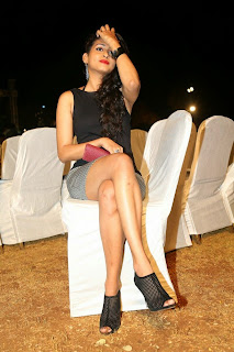 Actress Nitya Naresh  Pictures in Short Dress at Kerintha Audio Release Function  0130.jpg