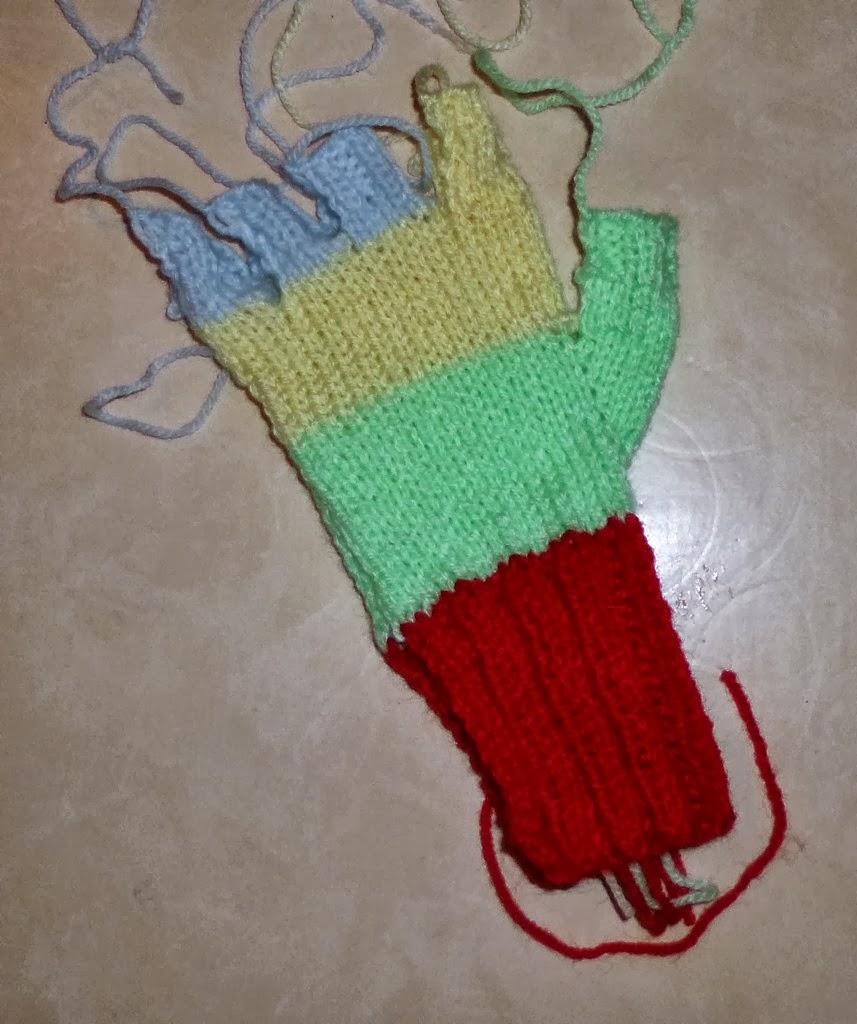 pour tricoter gant avec pouce