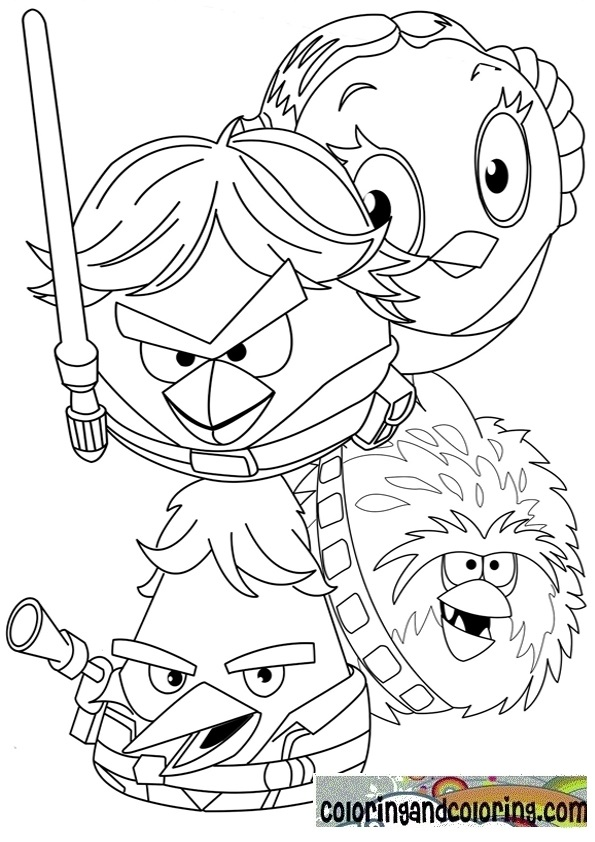 Free Angry Birds Star Wars Coloring Pages