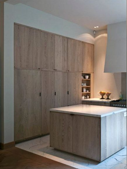 Peonies and orange blossoms cerused french oak kitchens for Contemporary oak kitchen cabinets