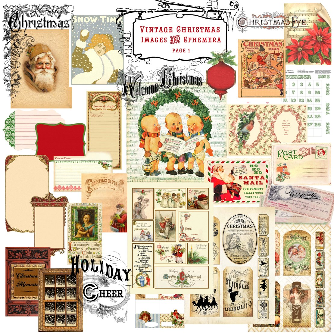 Crafty Secrets Heartwarming Vintage Ideas and Tips: NEW Christmas ...