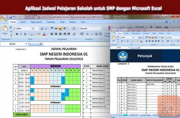 Aplikasi Jadwal Pelajaran Sekolah untuk SMP dengan Microsoft Excel