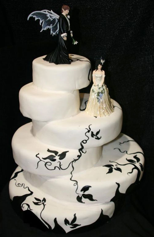 Cake Pictures Black And White : Amazing Black And White Wedding Cakes [40 Pic] ~ Awesome ...