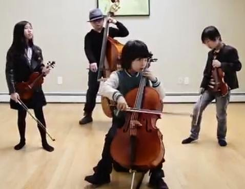 Smooth Criminal quartet string cover
