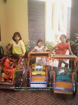 Bermain becak mini Memen
