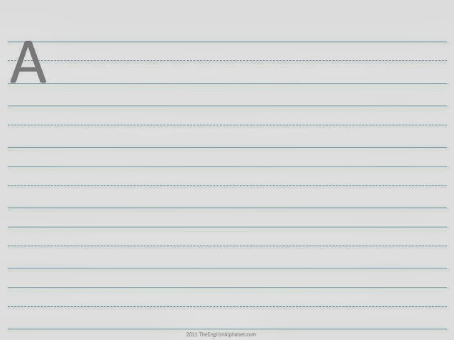 Printable Handwriting Pages