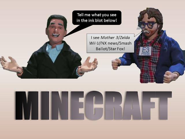 Minecraft Wii U Edition Nintendo fanbase Rorschach test inkblot Reggie Fils-Aime Robot Chicken