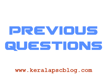 Kerala PSC Asked Questions in Previous Examinations