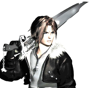 Squall Leonhart with a Gunblade