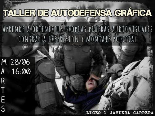 SANTIAGO: TALLER DE AUTODEFENSA GRAFICA