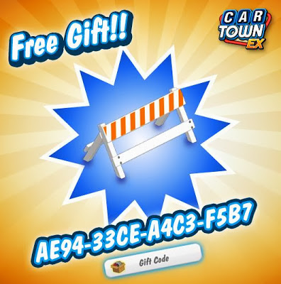 Below is the code for Car Town EX Free Gift A-frame barrier: