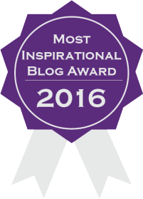 WINNER of Most Inspirational Blog Award