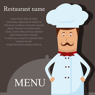 シェフを描いたレストラン メニュー Cartoon occupation image chefs illustrators イラスト素材