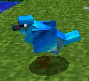 Mo' Creatures pájaro azul Minecraft mod