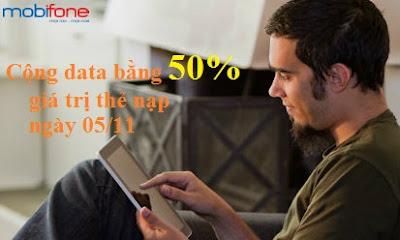 Ưu đãi data bằng 50% cho TB Fast Connect ngày 05/11