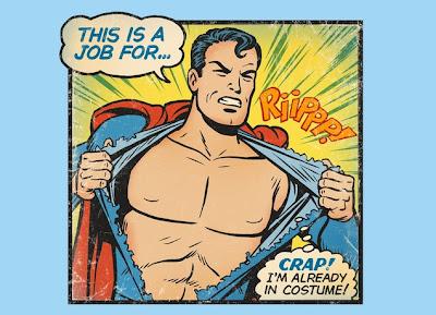 """Threadless Superman T-Shirt """"Super Embarrassment"""""""