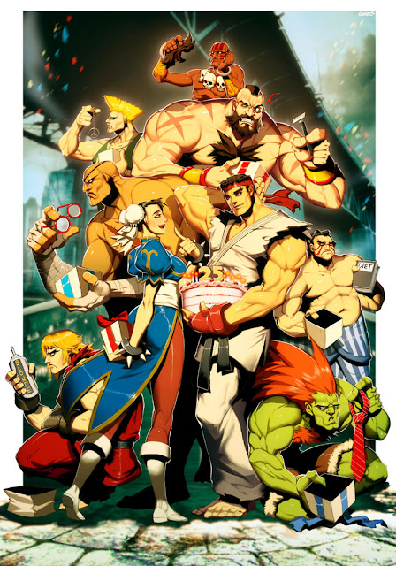 street fighter 25th anniversary tribute, Genzoman, anime humor