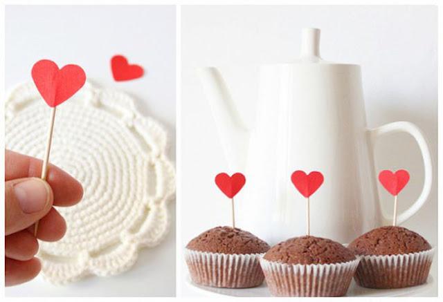 DIY toppers corazones para San Valentín