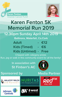 5k in Ballinora nr Ballincollig - Sun 14th Apr 2019