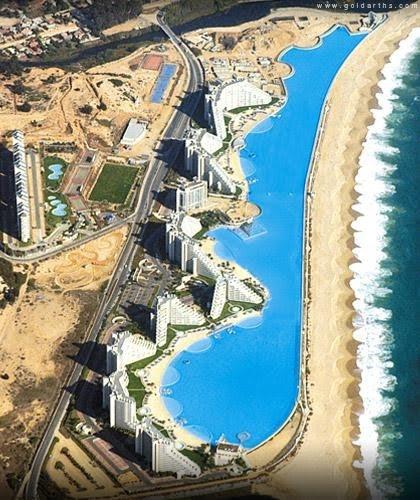 Bali Livin World 39 S Largest Swimming Pool San Alfonso Del Mar Resort In Algarrobo Chile