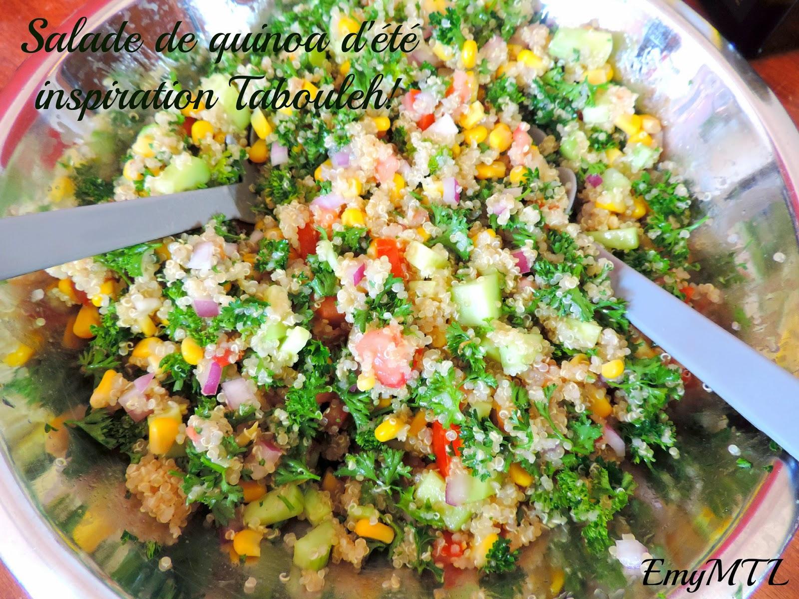 recette de salade de quinoa d 39 t inspiration tabouleh la petite pagaille. Black Bedroom Furniture Sets. Home Design Ideas