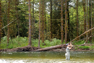 Fly-fishing in the Phillips River