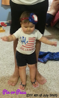 Julianna in her 4th of July shirt