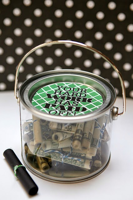 Money Bucket Tutorial by eighteen25 - lots of other creative ways to give money, too!