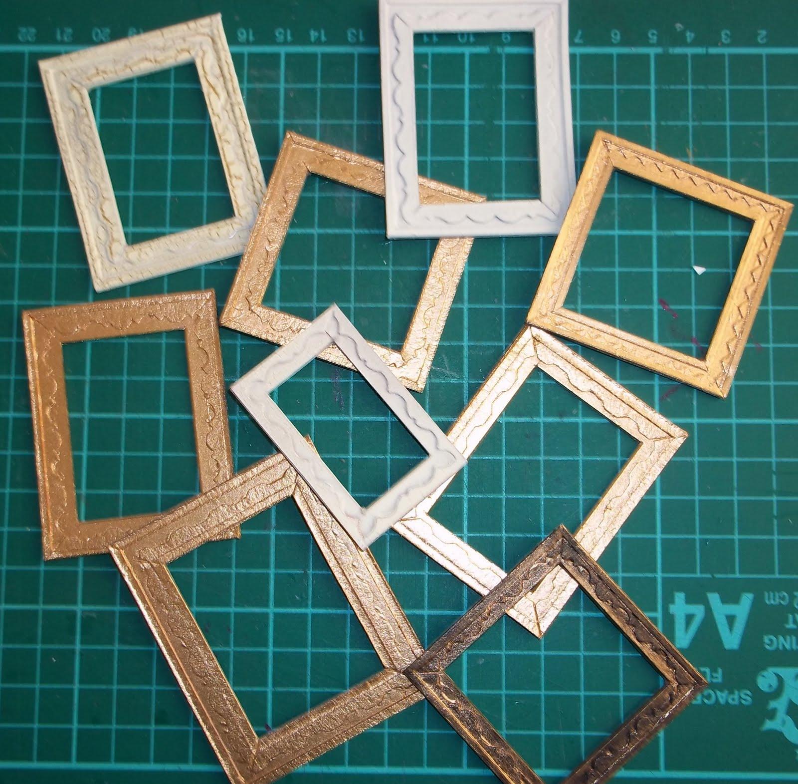 nataliegayleminiatures mini picture frame tutorial. Black Bedroom Furniture Sets. Home Design Ideas