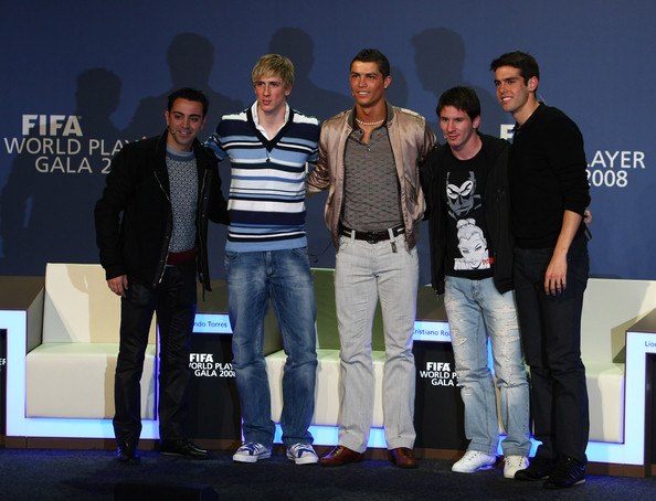 RONALDO, KAKA AND MESSI }