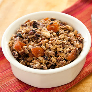 blueberry, apricot, cashew granola