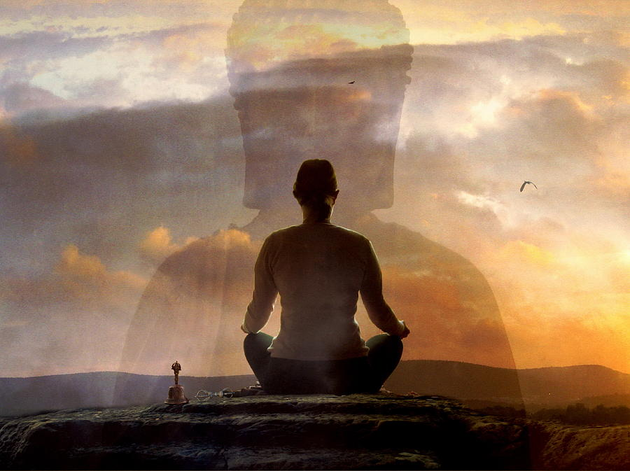 monk meditation wallpaper images