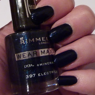 Rimmel Wear Maxx Nail Polish Swatch in Electric