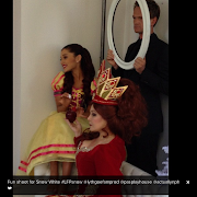 Today Ariana attended a photo shoot for the upcoming show she is performing . (picture )