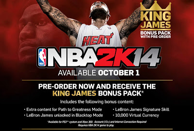 NBA 2K14 Pre-order-Bonus King James Pack